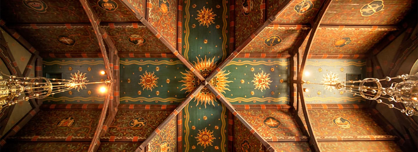 Ceiling of Sage Chapel