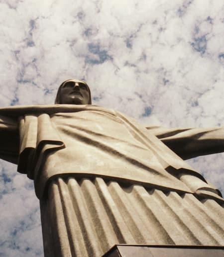 Christ the Redeemer statue in Rio de Janeiro, 125 feet tall