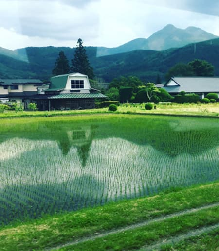 This photo shows a landscape in Kamaishi in Iwate prefecture in Japan that's recovering from that country's triple disaster of 2011, an earthquake, tsunami and nuclear meltdown.