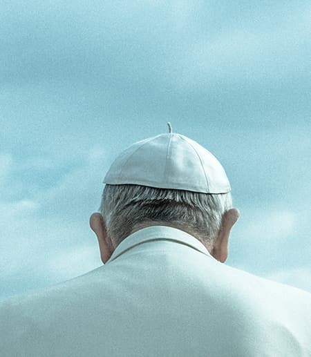 Back of the Pope's head