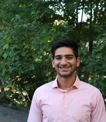 Jahan Zaveri, religious studies major